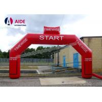 Quality Red Airblown Giant Inflatable Arch Rental Event Inflatable Start Finish Line wholesale