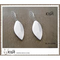 Quality OEM / ODM fashion jewelry 925 sterling silver earrings with Zircon W-AS996 wholesale
