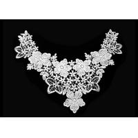 China Floral Flower Crochet Lace Collar For White Lace Top / Crochet Lace Top Women on sale