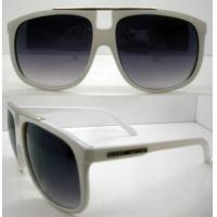 Quality UV Protection Novel White Plastic Frame Sunglasses , AC / PC wholesale