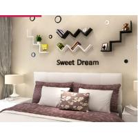 Quality English letters decoration Personalized Wooden Name Plaques Word Letters 3D Wall sticker Door Art Wedding Photo Props wholesale
