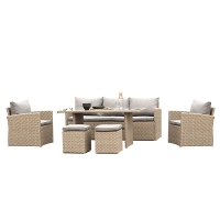 Quality SGS 1770mm Breadth 690mm Height Wicker Garden Sofa Comfortable wholesale