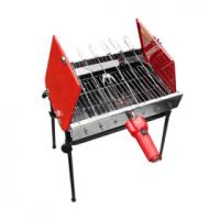Quality 1200W indoor electric bbq grill with stainless steel housing and handles wholesale