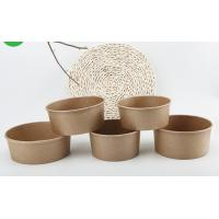 Quality Microwavable Customised Kraft Paper Bowls , Small Paper Bowls With Lids wholesale