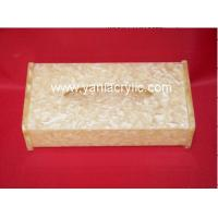 Quality Facial Paper Napkin Rectangle Chemical Resistance Grinding Acrylic Tissue Holder For Resturant wholesale