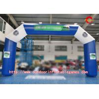 Quality Blue Commercial Inflatable Arch For Promotional Event With Detachable Printing wholesale