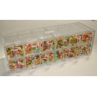 Quality Custom Acrylic Candy Display Cases Boxes With 12 Drawers For Supermarket wholesale