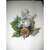 Quality Silver Tinsel hydrangea  Artificial Christmas Decorative Flower for weddings wholesale