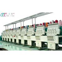 Quality 10 Heads Automatic Flat Embroidery Machine , Auto Trimmer And Color Changing wholesale