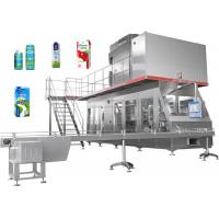 Quality Automatic Beverage Packaging Machine For Fresh Milk / Juice Carton Filling wholesale