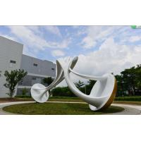 Quality Square Decoration Large Outdoor Sculpture , Stainless Steel Abstract Sculpture wholesale