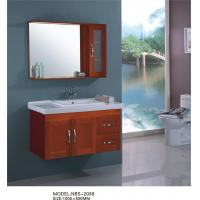 Quality Square ceramic basin  Solid Wood Bathroom Cabinet 100 * 500mm various color wholesale