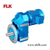 China F series helical geared motor speed reducer with electric motor for screw feeders on sale