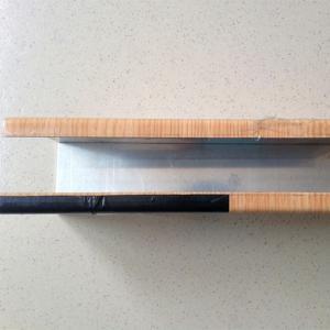 China Cheap wood grain aluminium square tube construction materials on sale