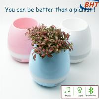 Quality Decorative Home Led Lighted Flower Pots Music Faceplate With Multi Color Choice wholesale