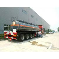 Quality NaOH tank trailer -200000L-40000L Caustic soda  round dishhead truck trailer factory wholesale