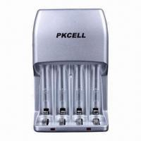 China Standard Battery Charger for AA/AAA Rechargeable Batteries with Individual LED Indicator on sale