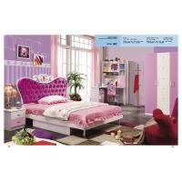China Children bedroom furniture girls bedroom furniture princess pink bed model 805 on sale