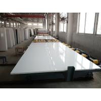 Quality Pure White Quartz Stone Slab Customized Exporting Countertop 3000 X 1400 Mm Size wholesale