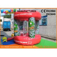 Quality Red PVC Tarpaulin Advertising Inflatables / Cash Machine Inflatable Money Booth wholesale