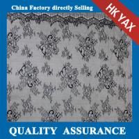 China Hot selling white full nylon light lace fabric for wedding dresses on sale