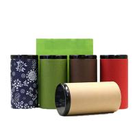 China Tin Cover Paper Tube Packaging For Tea Gift With Bags on sale