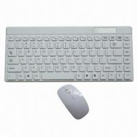Quality USB Wireless Keyboard and Mouse with 2.4GHz Radio Frequency and 10m Operating Range wholesale