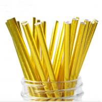 Buy cheap Food Grade Gold Blocking Coloured Paper Straws , Decorative Drinking Straws Pass from wholesalers