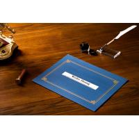 Quality Parchment Material Certificate File Holder , Gold Foil Hot Stamping Certificate Covers wholesale