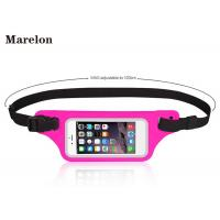 Cheap Sport LED Waterproof Running Belt / Elastic Waist Belt Tool Bag With Touchable Window for sale