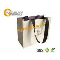 Quality Cute Hair White Paper Bags With Handles For Shopping , Paper Carrier Bags wholesale