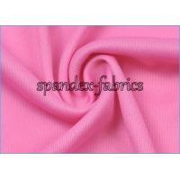 Quality Pink DTY Weft Interlock Jersey Knit Lining Fabric Embossed Fabric wholesale