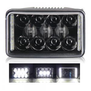Quality Black IP67 4x6 Led Headlight 10-30V DC Custom Sealed Beam Head Lamp For Cars wholesale