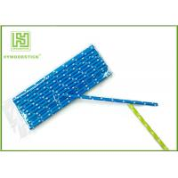 Quality Durable Navy Blue Polka Dot Paper Straws , Long Wedding Paper Straws wholesale