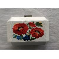 Quality National Style White Embroidered Bag Fabric Material With Break Open Closure wholesale
