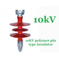 Buy cheap IEC 61109 Composite Polymer Pin Insulator , Pedestal 11 Kv Post Insulator product