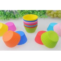 Cheap Food-Grade Round Silicone Muffin Cupcake Molds Baking Tool Nontoxic for sale