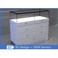 Quality Standard Custom Glass Display Cases With Base Plinth / Drawers wholesale