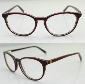 Cheap Custom Hand Made Acetate Women Optical Frame , Oval Acetate Eyeglasses Frames for sale