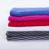 China Light Weight Stripe 100 Cotton Knit Fabric For Garment on sale
