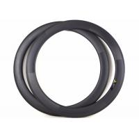 Quality Clincher / Tubuless Carbon Road Bike Rims 60MM 700C Lightweight With Basalt Brake wholesale