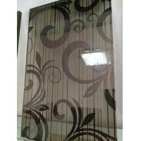 Quality Black Silk Tempered Pvb Laminated Art Glass Flat Panel 8mm For Home wholesale