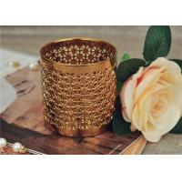 Quality Golden Pottery Home Decor Candle Holders Glazing Outside And Inside Wall wholesale