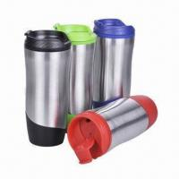 Quality Travel Mug, Made of Stainless Steel and PP for Inner, with Food Safe Grade wholesale