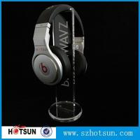 Cheap clear round base holder earphone clear acrylic holder for earphone wholesale for sale