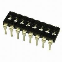 Quality DIP Switch with 1 Time Setting Function, Save Cost, Pos 02/03/04/05/06/07/08/09/10/12 wholesale