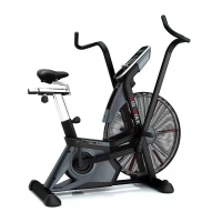 Quality Commercial LCD Indoor Air Cycling Assault Bikes With Chain Structure wholesale