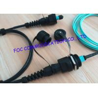 Quality Armored ODVA MPO Fiber Optic Patch Cord , OM3 10G fibre patch cables For FTTA wholesale