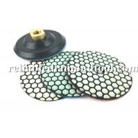 China 10 PCS 4 Inch Diamond Polishing Pads Dry With 1 PCS Backer Up Pad on sale