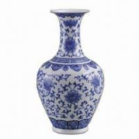 China Blue and White Egg-shell Porcelain Vase with Classic Art on sale